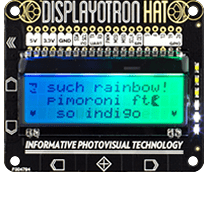 Display-o-Tron HAT at Raspberry Pi GPIO Pinout