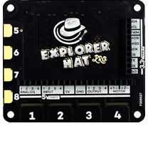 Explorer HAT Pro at Raspberry Pi GPIO Pinout